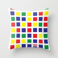 waldo Throw Pillows featuring Square's Waldo by Jonah Makes Artstuff