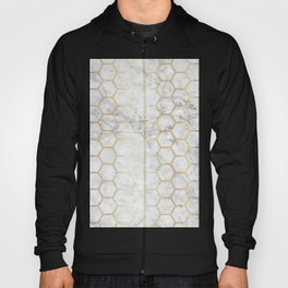 Honeycomb Marble Gold #767 Hoody