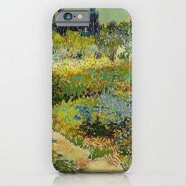 Garden at Arles / Flowering Garden with Path by Vincent Van Gogh (1888) iPhone Case