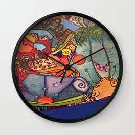 la Hamaca Wall Clock