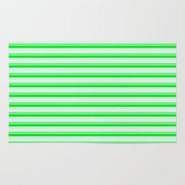 Green stripes. Rug