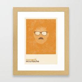 Monarch Moustache Framed Art Print