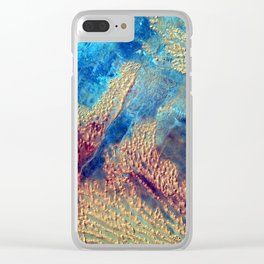 Sahara Desert From the Space Station Clear iPhone Case
