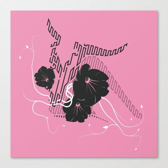 Untitled Art - Pink Canvas Print