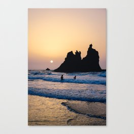Catching the last waves Canvas Print
