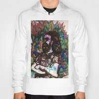 grateful dead Hoodies featuring Jerry Garcia Watercolor Portrait Grateful Dead by Acorn