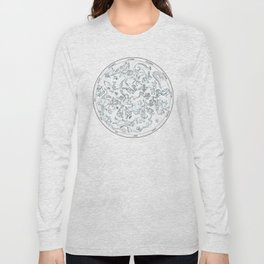 Constellations of the Northern sky - ligth blue Long Sleeve T-shirt