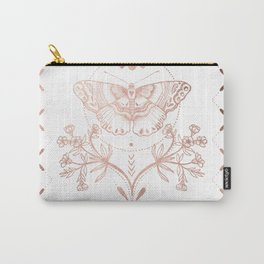 Magical Moth In Rose Gold Carry-All Pouch