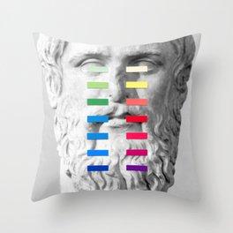 Sculpture With A Spectrum 1 Throw Pillow