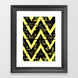 Golden abstract chevron Framed Art Print