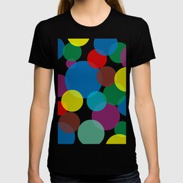 Colorful circles and bubbles T-shirt