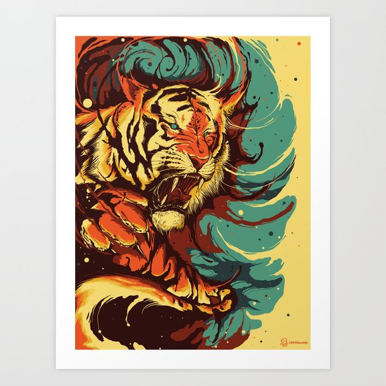 The Tiger's Eyes are like my Own Art Print