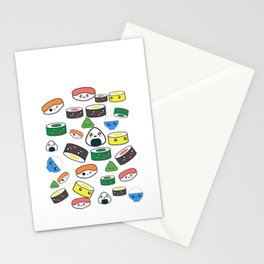 Funny Kawaii Sushi design Gift for Japanese Anime fans Stationery Cards