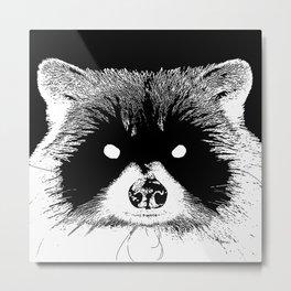 Black Metal Raccoon Metal Print