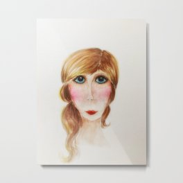 Blue Eyed Lady- Joni Metal Print