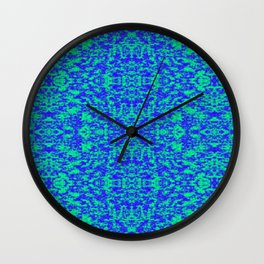 Abstract Fractal In Blue And Green Wall Clock