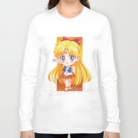 sailor venus Long Sleeve T-shirts featuring Chibi Sailor Venus by Neo Crystal Tokyo