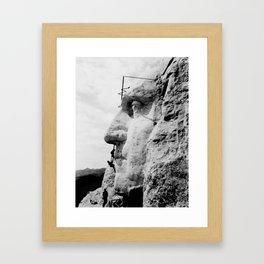 Mount Rushmore Construction Photo Framed Art Print