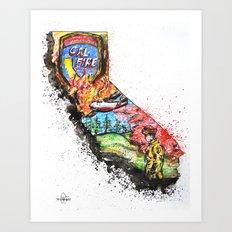 CAL Fire  Art Print