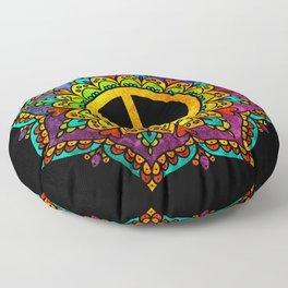 Peace Mandala Floor Pillow