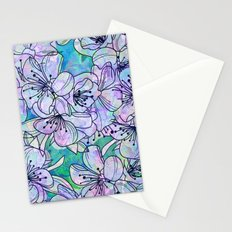 Over and Over Flowers Stationery Cards