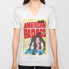 American Badass Cover Art Unisex V-Neck
