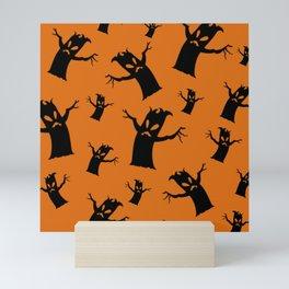 Spooky Tree Pattern Mini Art Print
