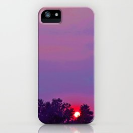 """""""Sultry Day Sunset"""" with poem: Stay iPhone Case"""