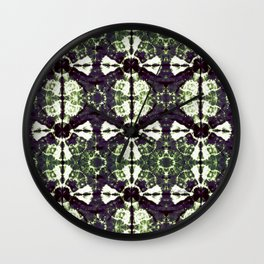 Eggplant Bloom Wall Clock