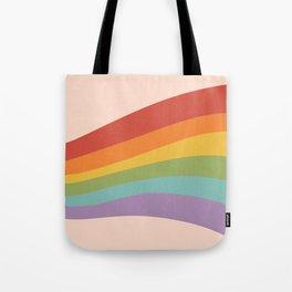 Rainbow Stripes 4 Tote Bag