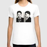 frank sinatra T-shirts featuring Frank Sinatra Mug Shot  by All Surfaces Design