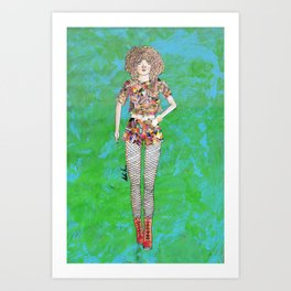 Collage Collection - Regina Art Print