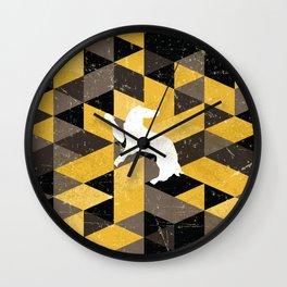 Hufflepuff House Pattern Wall Clock