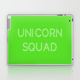 Unicorn Squad - Lime Green and White Laptop & iPad Skin