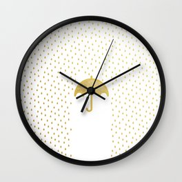 Raining song Wall Clock