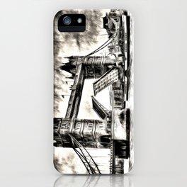 Tower Bridge and the Waverley Art iPhone Case