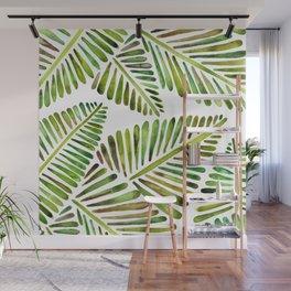 Tropical Banana Leaves – Green Palette Wall Mural