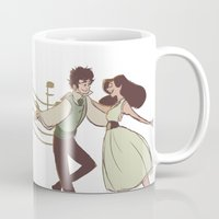 grantaire Mugs featuring Dance With Me by invisibleinnocence