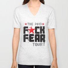 F★CK FEAR (the 2013 tour) Unisex V-Neck