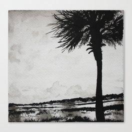 Palm Tree on the Marsh Canvas Print