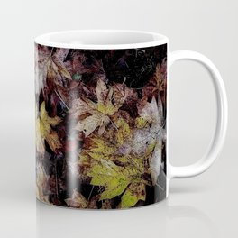 Autumn Patchwork, Maple Leaves Coffee Mug