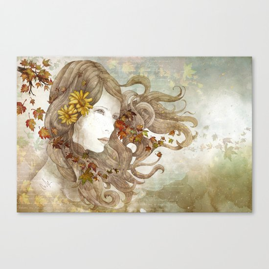 As Much as I Love Autumn Canvas Print