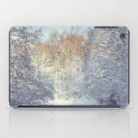 blanket iPad Cases featuring White Blanket by Dirk Wuestenhagen Imagery