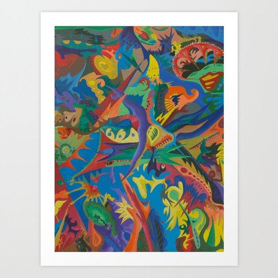 Crazy Dreams of Colour  Art Print