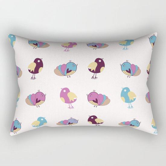 Cute Birds Pattern Rectangular Pillow
