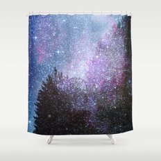 Stars forest..... Cosmic. Shower Curtain