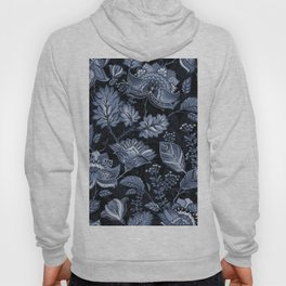 Blooms in the blue night Hoody