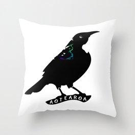 Tui New Zealand Native Bird Throw Pillow