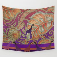 boho Wall Tapestries featuring  boho morocco by Ariadne