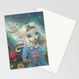 Alice in Wonderland Fantasy Art Stationery Cards